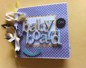 Gift for mommy to be   brag book scrapbook album Pregnancy scrapbook baby shower gift premade grandma brag book