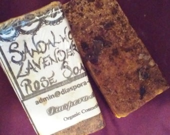 Sandal Lavender & Rose Luxury handmade soap.