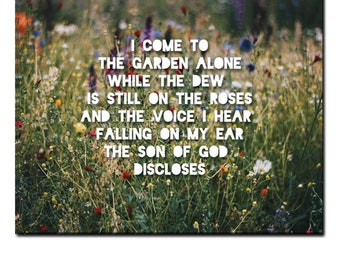 "IN THE GARDEN canvas wall art 12"" x 24"" or 18"" X 24"" or 30"" X 40"""
