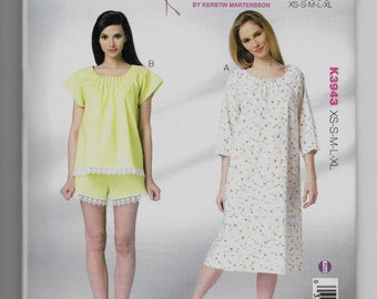 K3943 Kwik Sew Women's Sleepwear Sewing Pattern Sizes XS-S-M-LXL