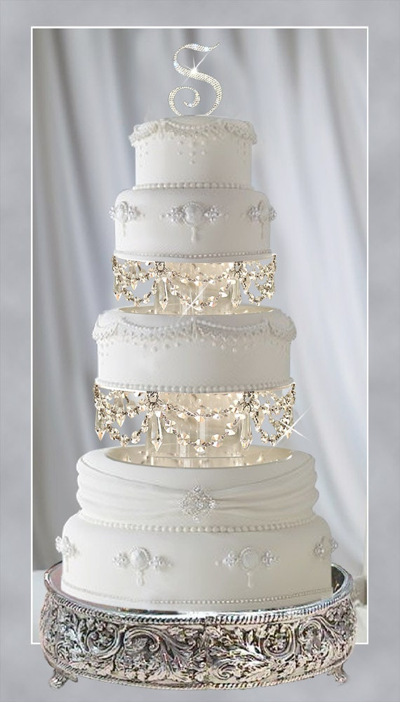 Swarovski and Rhinestone Crystal Chandelier Wedding Cake Tier