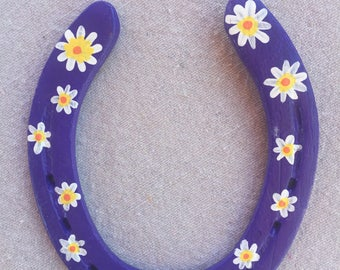Flower Power - Painted Horseshoe