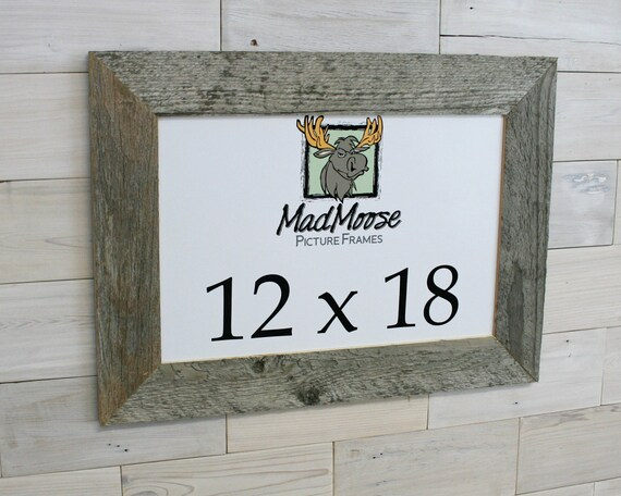 12x18 BarnWood Thin x 3 Picture Frame... rustic