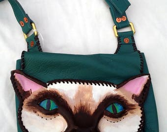 Small Purse: Siamese cat
