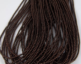 3mm Czech Glass Pearl - 70408 Bronze x 300pcs