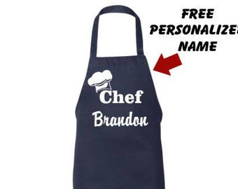 Personalized Apron, custom apron, Mens Apron, chef apron, womens apron, Aprons for him, Birthday Day, Husband, Boyfriend Gift, Apron for her