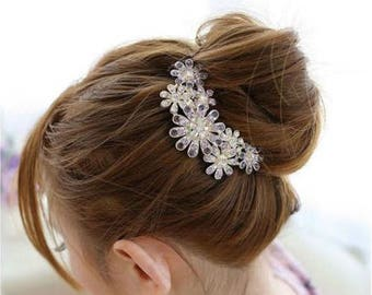 LAVENDER - Wedding Bridal Hair Comb