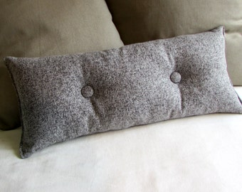 SALT AND PEPPER long designer bolster pillow 9x25