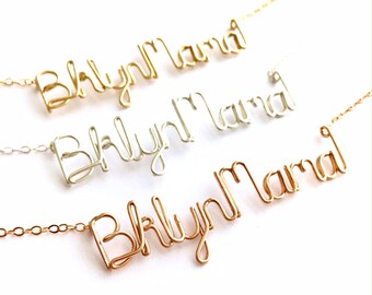 Brooklyn Mama Necklace. Sterling Silver Gold or Rose Gold Brooklyn Mama Custom Necklace. Mother's Day Necklace. Bklyn Necklace.