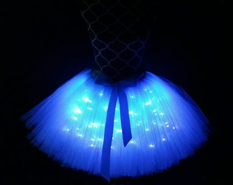 Turquoise LED tutu/ Bridal party tutu/ Children to adult Tutu costumes/ Light up tulle skirts (33 colors available)