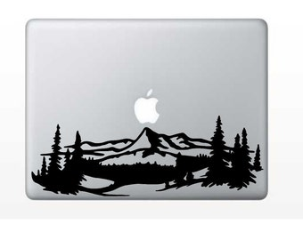 Mountain Decal - Moutain Range Decal - Moutain Scene - Glitter Decal - Laptop Decal - Cell Phone Decal - Laptop Sticker - Car Decal