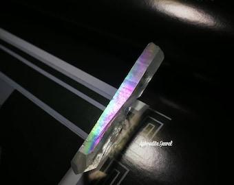 Angel Aura Quartz, Rainbow Aura, Titanium Quartz