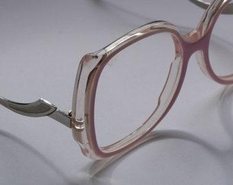 Eyeglass frames for women Vintage 80s Pink large square eyeglasses Women eyeglasses Oversized eyeglasses Retro eyeglasses Vintage eyeglasses