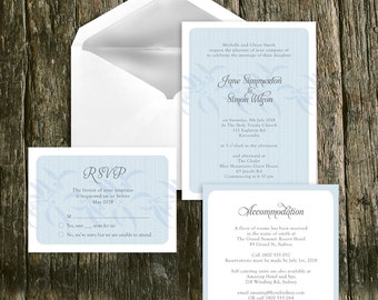 Elegant chic pink and black wedding invitation printable winter forest wedding invitation diy printable file ghost gum leaf leaves woodland rustic romantic blue tree fall snow customised stopboris Gallery