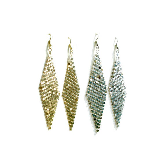 Metal Mesh Dangle Earring