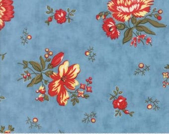 Ann's Arbor Blue Floral Chinz 14841 15 by Minick & Simpson for Moda