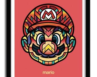 Affiche Mario par Van Orton