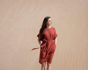 Linen Dress Motumo - 16S10