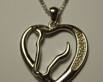 Silver Horse Pendant - Rhodium-plated