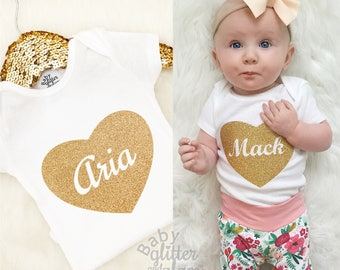 Baby Girl Clothes, Baby Girl Outfit, Homecoming Hospital Outfit, Personalized Baby Girl, Baby Shower Newborn Gift