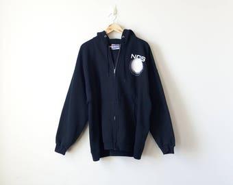 """Vintage """"NCIS Fan"""" Zip Hoodie - Vintage Hoodie Vintage Sweatshirt Funny Sweatshirt Normcore Sweatshirt Normcore Hoodie - Men's 2XL"""