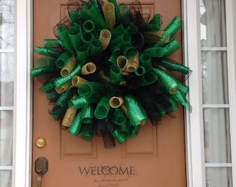 St. Patrick's Day Basic Spiral Wreath
