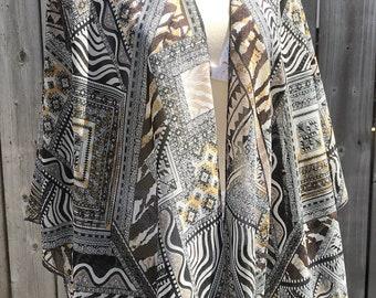 Plus size Kimono ,boho kimono ,white kimono ,vintage kimono , floral kimono ,chiffon kimono ,sheer kimono ,flowing kimono ,festival kimono