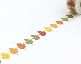 Washi Tape - Fall Leaves in Autumn - no.797 // 15mm x 10m