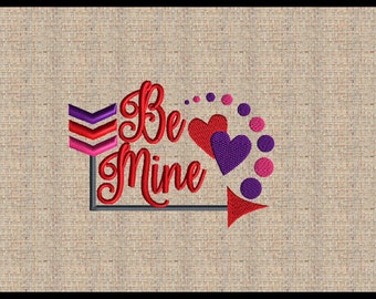 Be Mine Valentine Embroidery Design Valentines Embroidery Design Heart Arrow Embroidery Design Machine Embroidery Design