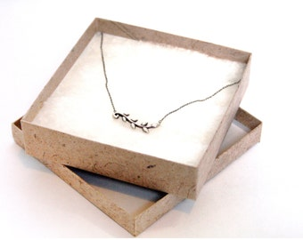 100 Pcs 4x4x1 in Jewelry Box. 100% Recycled, Eco-Friendly, Sustainable, Natural BR0601
