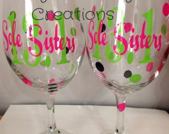 Sole Sisters Wine Glass