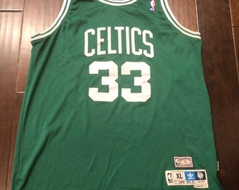 Adidas Boston Celtics Larry Bird Hardwood Classics Sewn Basketball JerseyMen XL