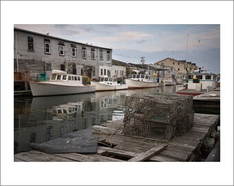 Portland Harbor - Lobster Wharf - Color Photo Print - Fine Art Photography (PM03)