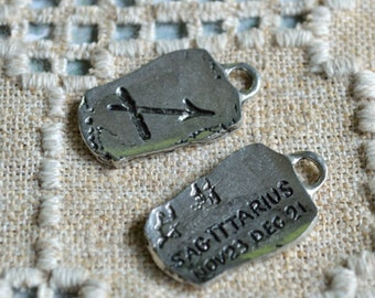 "Sagittarius ""The Archer"" Zodiac Astrology Sign of November December Pewter Ancient Pendant"