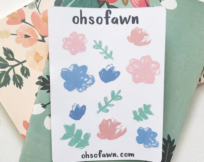 Floral Watercolor Stickers