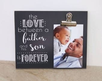 Father's Day Gift For Dad - The Love Between a Father and Sons Is Forever, Father Son Gift, Custom Picture Frame, Dad Photo Frame
