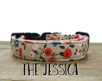 Dog Collar Floral, Spring Dog Collar, Summer Dog Collar, Flower Dog Collar, Girl Dog Collar, Dog Collar, Pink Dog Collar, Dog Collar