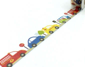 Washi Tape - Cars - no.751 // 15mm x 10m