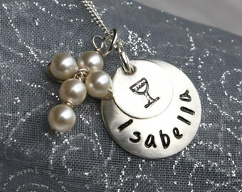 First Communion Necklace - Communion Jewelry - with pearl or crystal cross in Sterling Silver