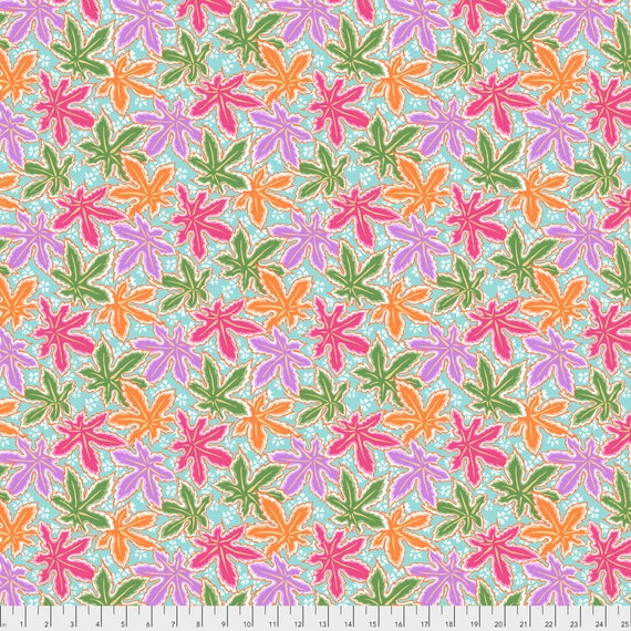 LACY LEAF Pastel Philip Jacobs PWPJ0093.PASTE Kaffe Fassett Collective Sold in 1/2 yd increments