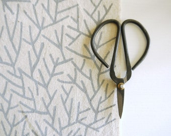 Needles - screen printed fabric for patchwork, sewing, embroidery and crafting in pastel colours / colors
