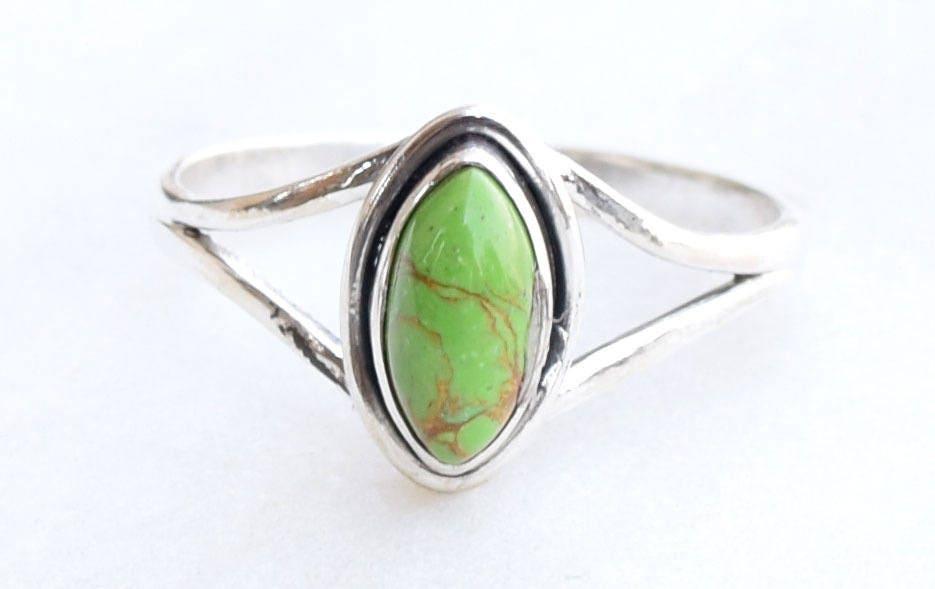 Green Turquoise Ring Turquoise Ring Turquoise Stone Ring