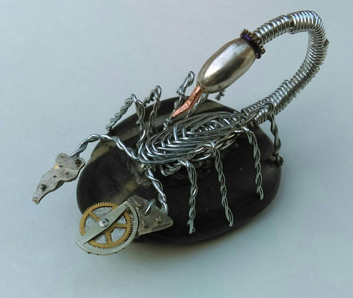 Hand crafted \'Steam Punk\' style wire scorpion