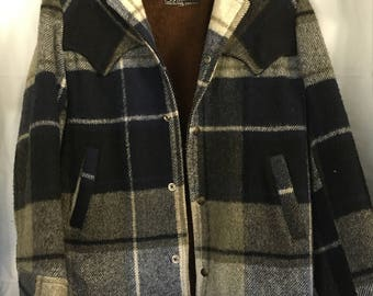 SALE!!! Vintage Wool Plaid Jacket