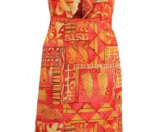 2 Piece Tiki/Hawaiin Wiggle Dress and Bolero