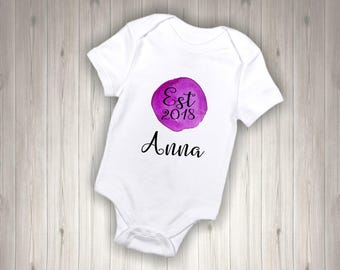 Violet Watercolor Est - Bodysuit/Baby/New