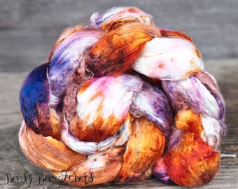 ENIGMA 2 - Mulberry Silk Brick Cultivated Undyed Bombix Spinning Silk, Silk Top, Silk Roving, Felting Silk, Nuno Felting, Spinning Supplies