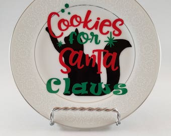 Cookies for Santa Claws Plate