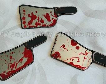 Stained Glass Cleaver Magnets - Bloody Cleaver - Stained Glass Magnets