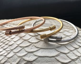 Stainless Coil Bracelet